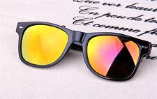 Men Women Colorful Vintage Retro Round Frame Sunglasses Glasses Eyewear