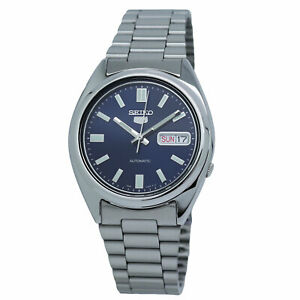 Seiko Men's SNXS77 Seiko 5 Automatic Blue Dial Stainless Steel Bracelet Watch