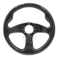 Universial 320mm Carbon Fiber 6Holes Racing Steering Wheel Black For All Vehicle
