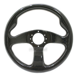 Universial 320mm Carbon Fiber 6Holes Racing Steering Wheel Black For All Vehicle