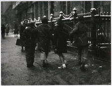 Vintage Alfred Statler Mid-Century Lg Format NYC Photograph Winter Street Scene
