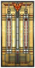 FRANK LLOYD WRIGHT BRADLEY HOUSE SKYLIGHT STAINED ART GLASS PANEL DISPLAY
