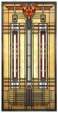 FRANK LLOYD WRIGHT BRADLEY HOUSE SKYLIGHT STAINED ART GLASS PANEL DISPLAY