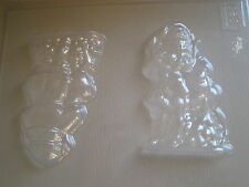 SANTA/FATHER CHRISTMAS/REINDEER CHOCOLATE MOULD/MOULDS/3-D/11CM HIGH/CHILDRENS