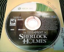 THE TESTAMENT OF SHERLOCK HOLMES  (Microsoft Xbox 360, 2010)-DISC ONLY