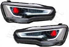 VLAND LED Headlights For Mitsubishi Lancer EVO X 2008-2017 Assembly Audi Style