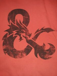 Dungeons and Dragons T-Shirt Red Size Large