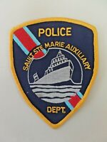 Vintage Sault Ste. Marie Auxiliary Police Dept. Patch Michigan Embroidered 4296