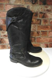 DIESEL BROWN CREASED SOFT ALL LEATHER PULL ON SLOUCH BOOTS UK 5 / 38