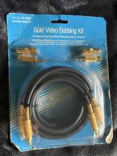 Archer Gold Audio/Video Dubbing Kit Gold Plated RCA Cables Connectors 15-1523