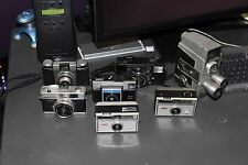 Lot of Vintage 35mm, Instant & Movie Cameras for Use or Decor!