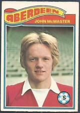 TOPPS 1978 SCOTTISH FOOTBALLERS-#084-ABERDEEN-JOHN McMASTER