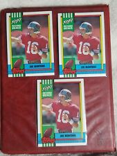 1990 TOPPS #1 JOE MONTANA 3 CARD LOT SAN FRANCISCO 49ers