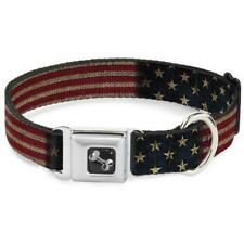 Buckle Down American Old Glory Flag Vintage Dog Collar Large 15-26 X1 Inches