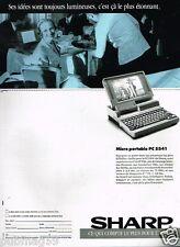 Publicité advertising 1989 Ordinateur Micro Portable PC 5541
