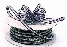 "3mm-1/8"" Organza Pull bow ribbon  navy blue  50yd"