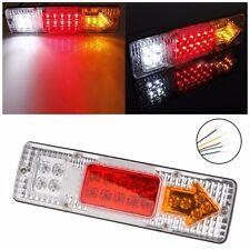 1 Pair 19 LED Tail Light Car Truck Trailer Stop Rear Reverse Turn Indicator Lamp