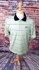 FootJoy FJ Men's Short Sleeve Green Stripe STONO FERRY Logo Golf Polo Shirt sz M