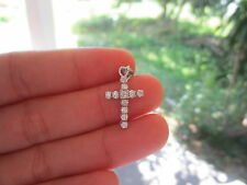 .58 Carat Diamond White Gold Cross Pendant 14K sepvergara