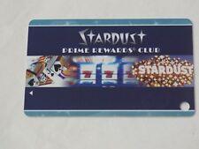 STARDUST RESORT & CASINO LAS VEGAS PRIME REWARDS PLAYERS CLUB CARD