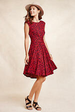 NWT Anthropologie South Shore Dress Sz M Red