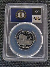 2001-S 25c Kentucky CLAD State Flag Label Quarter Proof Coin PCGS PR70DCAM