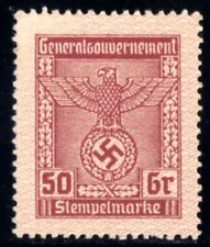 652-GERMAN EMPIRE-Third reich.WWII.GENERALGOUVERNEMENT NAZI REVENUE Brand MNH**
