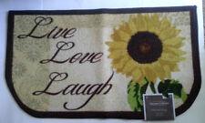 Sunflower Live Love Laugh Slice Mat Rug Kitchen Decor Signature Collection 18x30