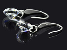 Sterling Silver Made With CZ Crystal Disco Ball Dangle Drop Earrings Box