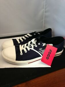 NFL New England Patriots Mens Team Logo Low-Top Canvas Sneakers Size 12
