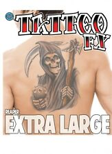 Fake Tattoo Extra large  covers back Grim Reaper