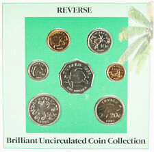 1985 Tuvalu Brilliant Uncirculated 9 Coin Collection