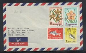 SINGAPORE Commercial Cover Singapore to West Germany 7-6-1968 Cancel