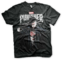 Officially Licensed Marvel's The Punisher Blood Men's T-Shirt S-XXL Sizes