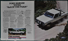1986 FORD RANGER PICKUP 2-page advertisement, Ford Ranger Pickup Truck