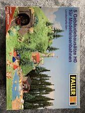 FALLER 190385 5 x Gebäudebausätze H0 für Model Eisenbahn H0, Landschafts-Set