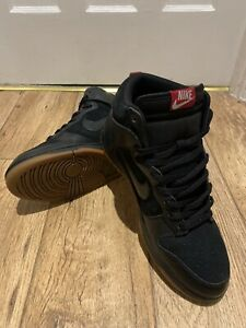 NIKE DUNK HIGH - 25th Anniversary Edition - Black Suede/Leather Gum 407920-020