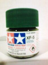 Tamiya acrylic paint XF-5 Flat green 10ml Mini.