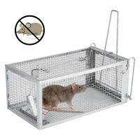 Metal One-Door Animal Trap Steel Cage for Live Rodent Rat Mice Squirrel Control