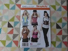 NEW Simplicity 1345  Andrea Schewe Steampunk Cosplay corset shrug sizes 6-14