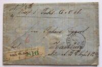 Brief Leipzig 1867 nach Hamburg siehe Bild mit Siegel