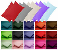 New Pillow Cases Poly Cotton & Cotton Pair of in plain Multicoloured Cases
