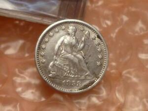 1858-O Seated Liberty Half Dime Extremely Fine #2
