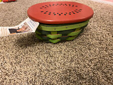 New Listing2016 Longaberger Watermelon Basket And Liner
