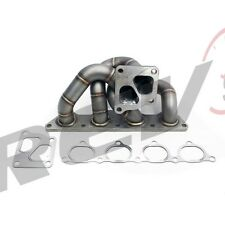 REV9 HP SERIES 01-07 EVO 7 8 9 4G63 CT9A EQUAL LENGTH TURBO MANIFOLD STAINLESS