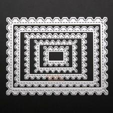 5pcs Rectangle Wave Cutting Dies Stencils for DIY Scrapbooking Album Paper Craft