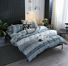 Classic 5 Pieces Bedding Comforter Sets Twin Set, Geometric Pattern Bed in a Bag
