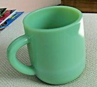 NEW OLD STOCK Jadeite Green Glass 14 oz Coffee Mug Oven Ware  Box of Two Mugs