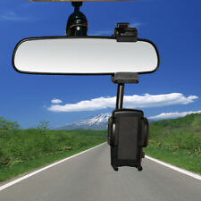 Universal 360° Car Rearview Mirror Mobile Mount Holder Stand For Mobile Phones