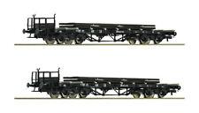 Roco HO 76194 - Set: 2-tlg. Rungenwagen, beladen mit Schienen, DB   UVP 81,90